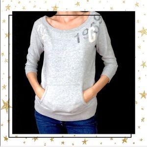 Gap Grey scoop neck Sweatshirt XSmall